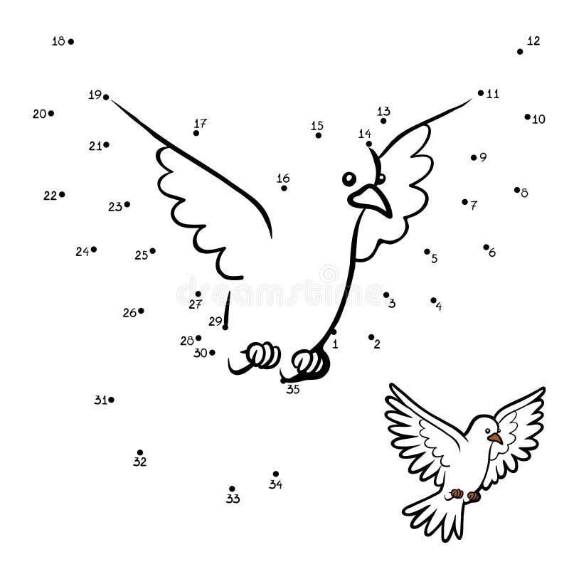 Gioco di numeri gioco per i bambini colomba di - Colore per numeri per i bambini ...