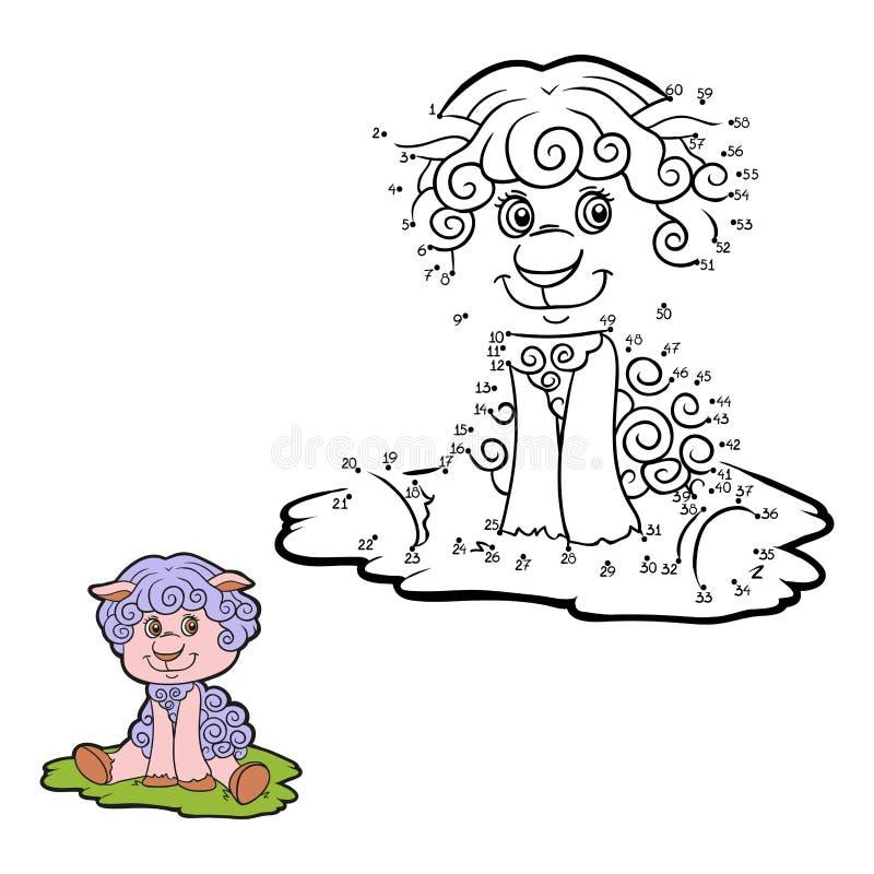 Gioco di numeri (pecore) royalty illustrazione gratis