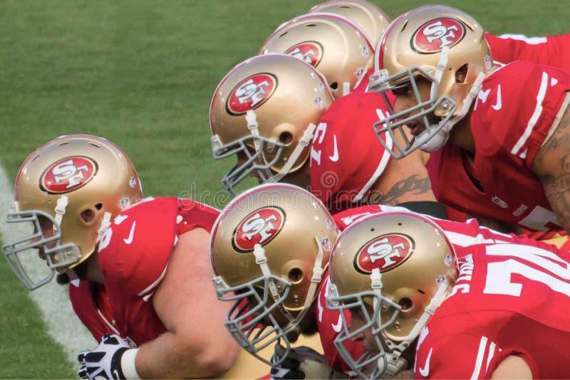 gioco di offensiva 49ers fotografie stock libere da diritti