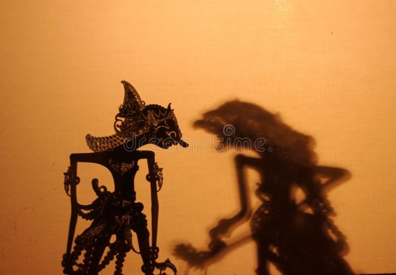 Gioco di ombra del burattino immagine stock