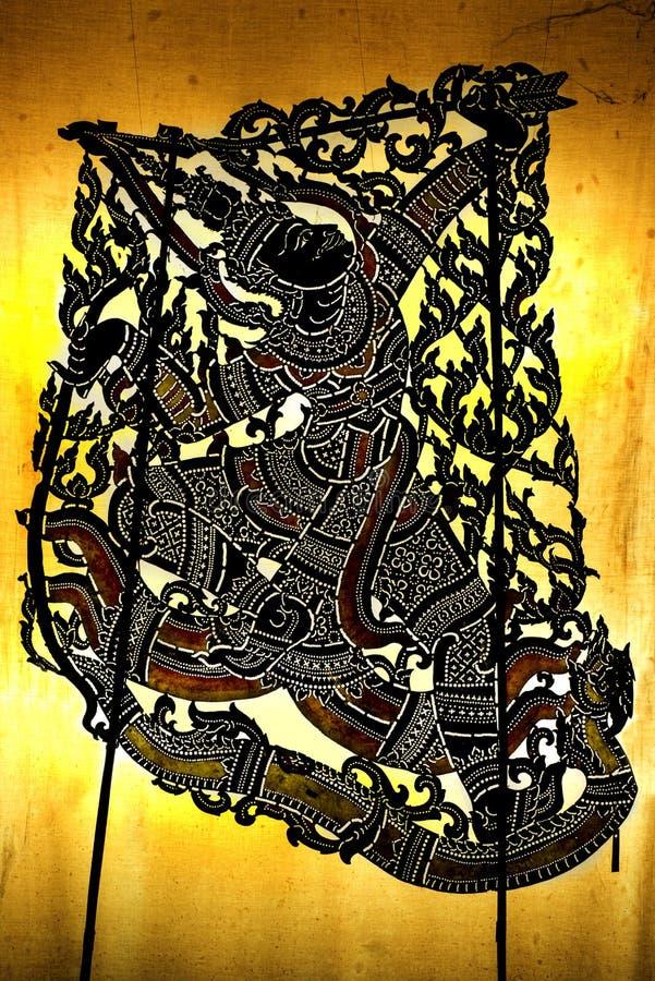 Gioco di ombra tailandese tradizionale di stile fotografie stock