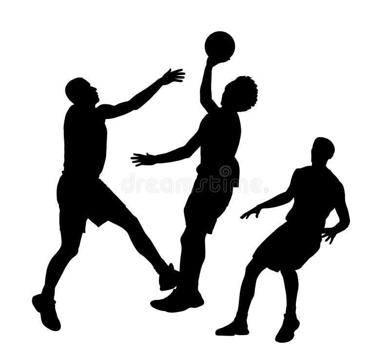 Gioco di pallacanestro illustrazione vettoriale