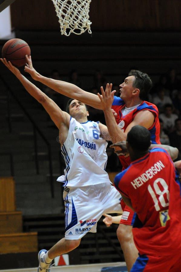 Gioco di pallacanestro di Nyiregyhaza - di Kaposvar fotografie stock libere da diritti