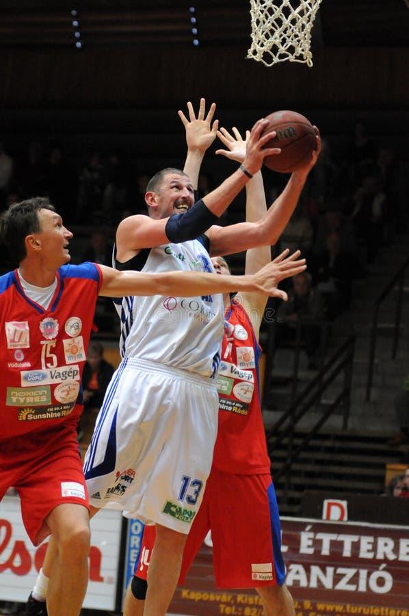 Gioco di pallacanestro di Nyiregyhaza - di Kaposvar fotografie stock