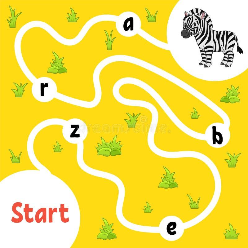 Gioco di puzzle di logica Apprendimento delle parole per i bambini Trovi il nome nascosto Foglio di lavoro di sviluppo di istruzi illustrazione vettoriale