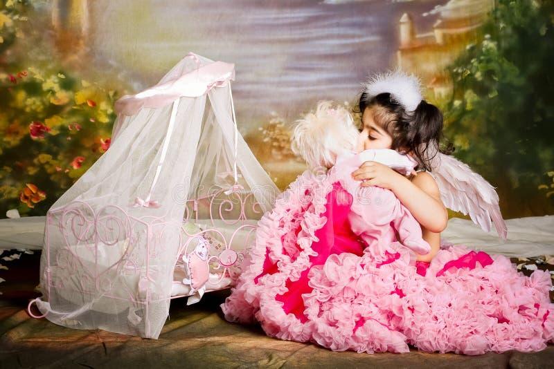 Gioco di ruolo del bambino fotografie stock libere da diritti