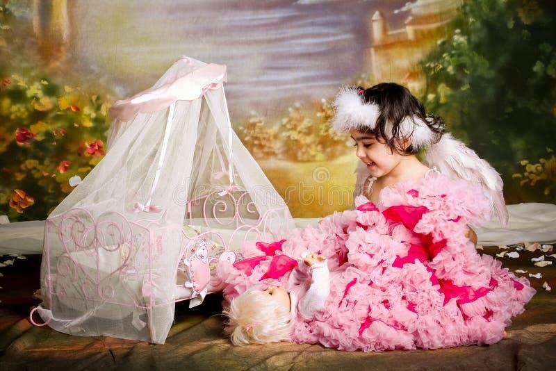 Gioco di ruolo del bambino fotografie stock