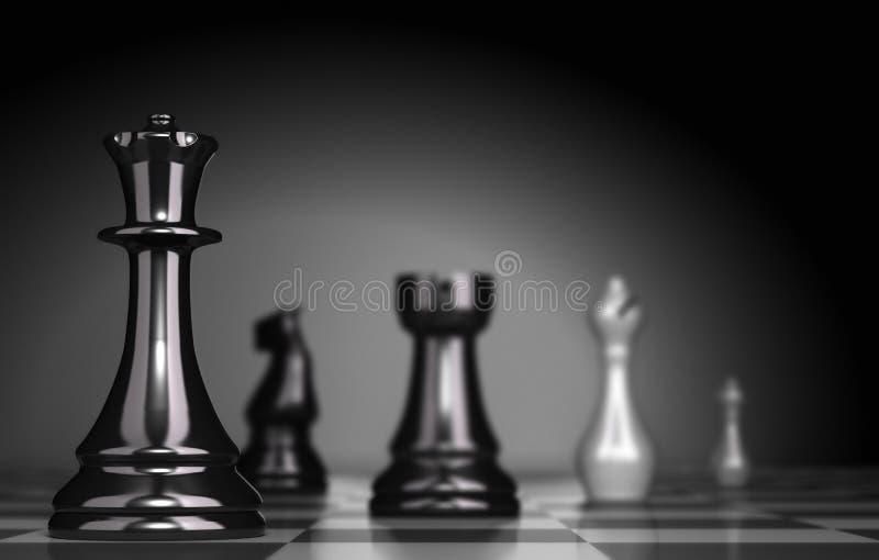 Gioco di scacchi illustrazione vettoriale