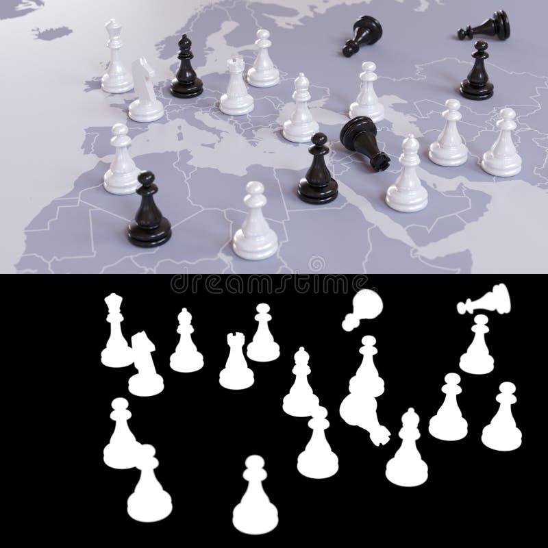 Gioco di scacchi geopolitico fotografia stock libera da diritti