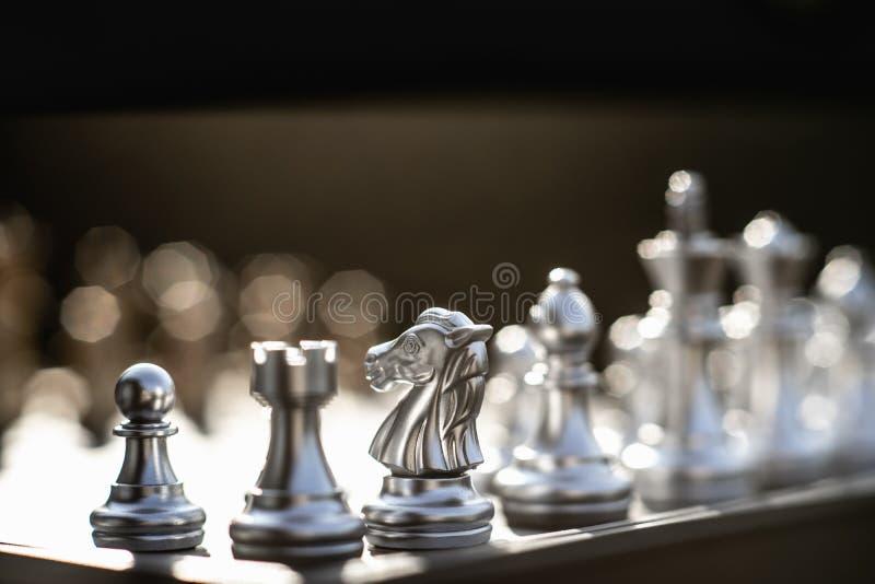Gioco di scacchiera, concetto competitivo di affari fotografia stock libera da diritti
