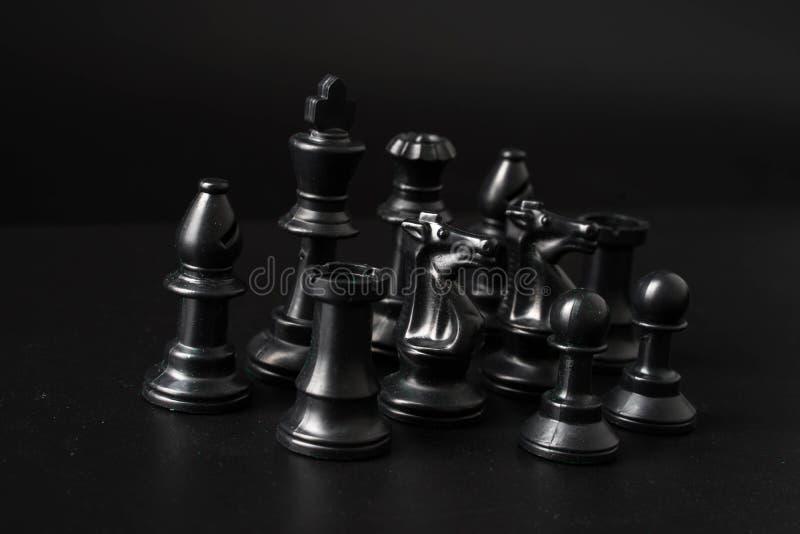 gioco di scacchiera per le idee e la concorrenza fotografia stock