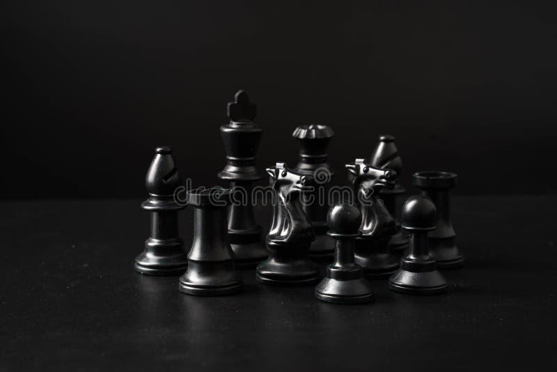 gioco di scacchiera per le idee e la concorrenza immagine stock