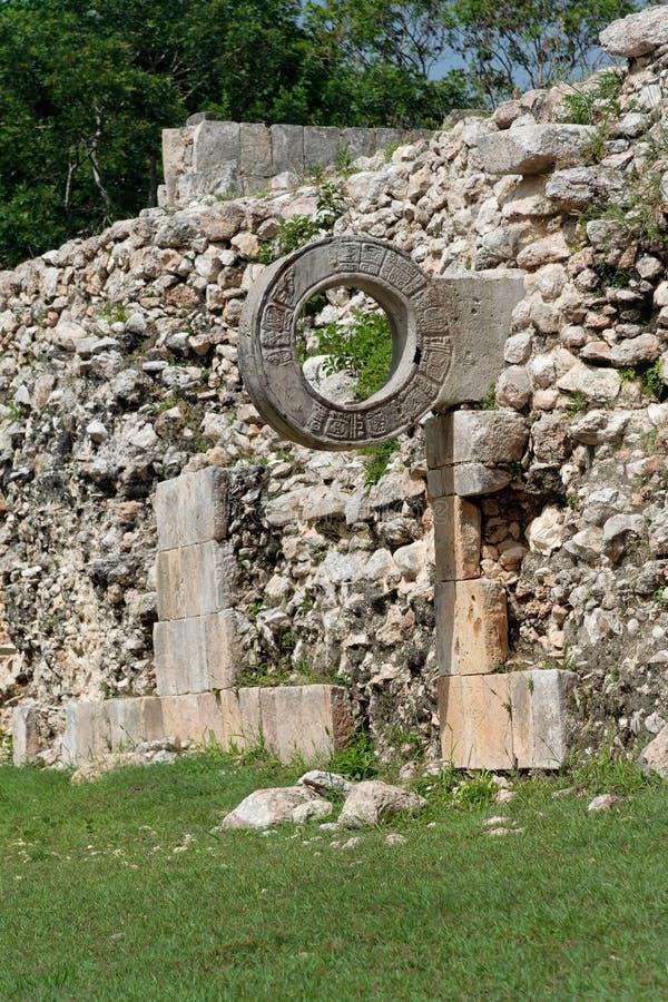 Gioco di sfera di Uxmal fotografia stock