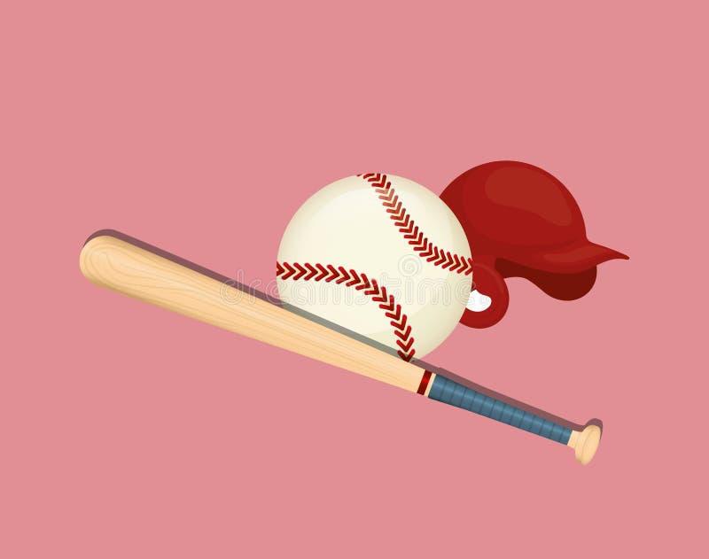 Gioco di sport di baseball royalty illustrazione gratis