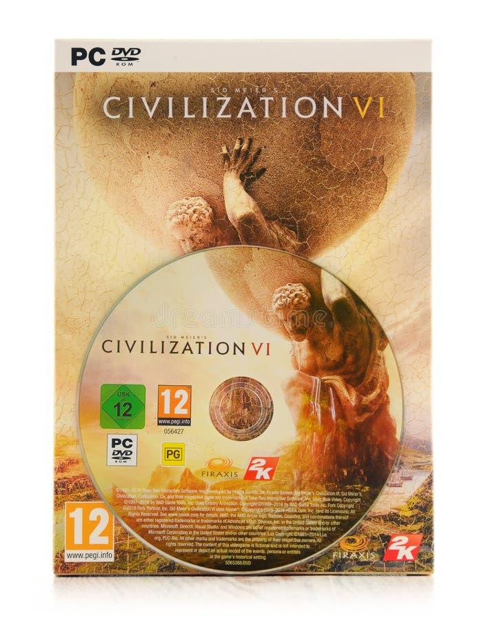 Gioco di strategia del computer della civilizzazione VI di Sid Meier immagine stock