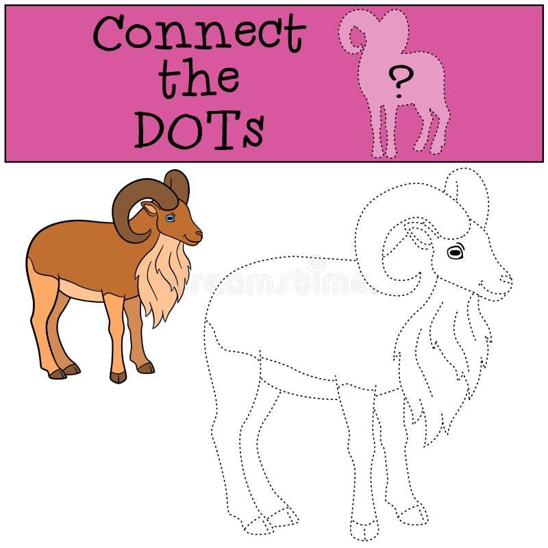Gioco educativo: Colleghi i punti Bei sorrisi urial svegli illustrazione di stock