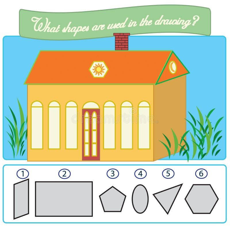 Gioco educativo di puzzle per i bambini royalty illustrazione gratis