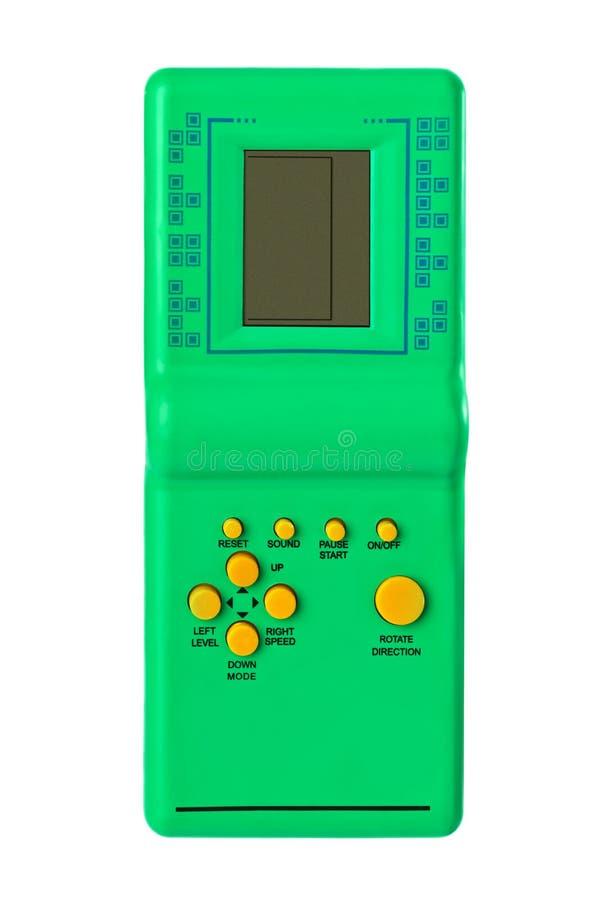 Gioco elettronico di tetris immagine stock