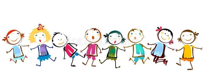Gioco felice dei bambini royalty illustrazione gratis