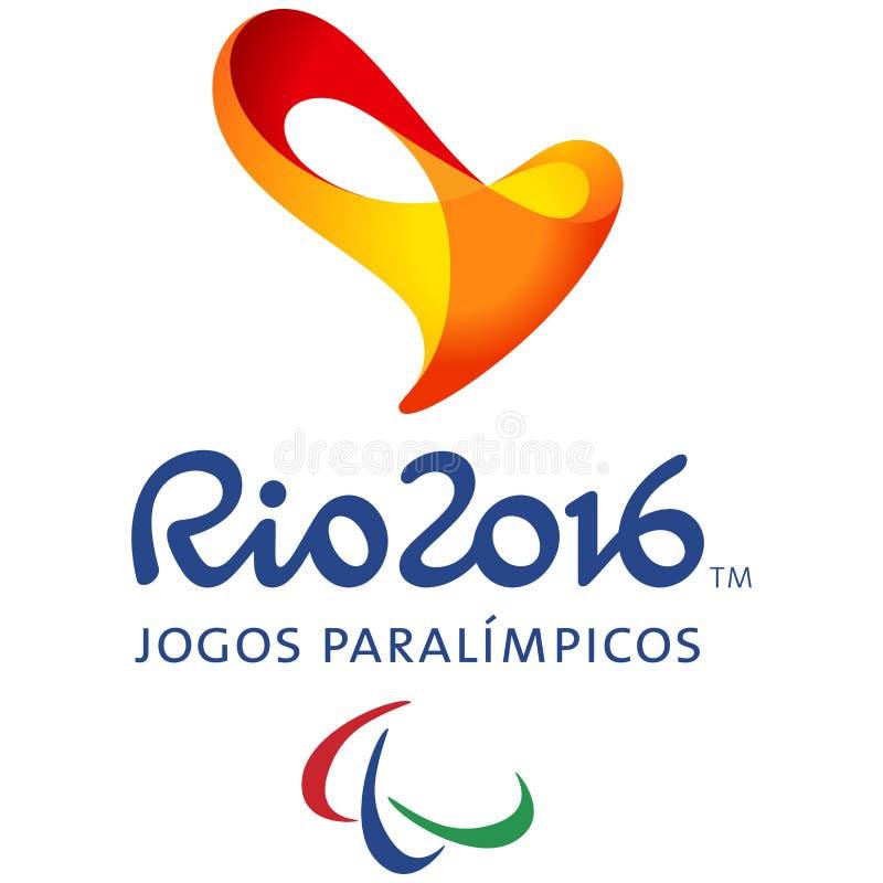 Gioco paralimpico Rio Official Logo illustrazione di stock