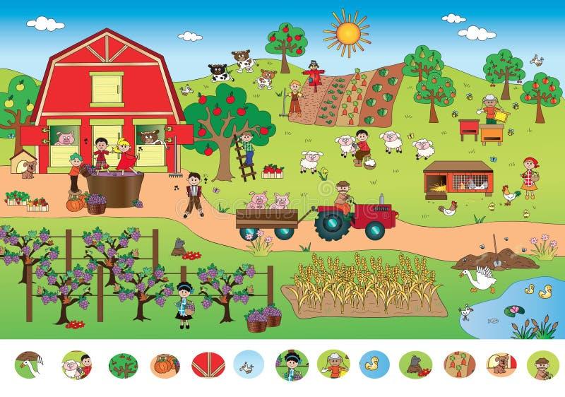 Gioco per i bambini illustrazione di stock
