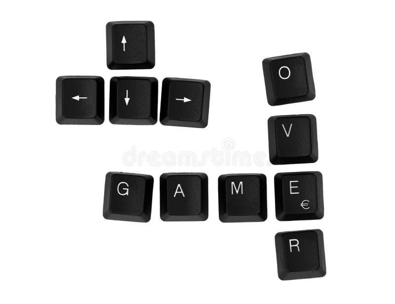 GIOCO SOPRA il segno scritto su una tastiera immagine stock