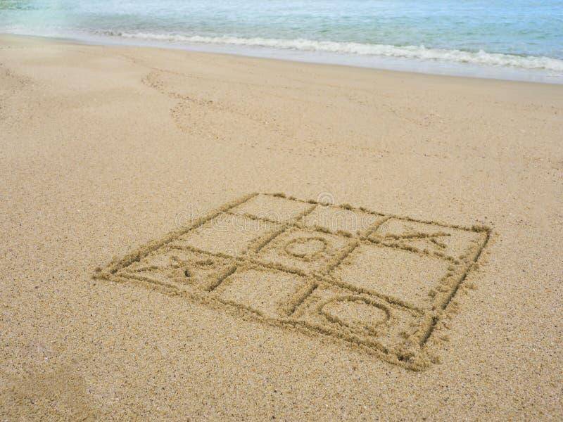 Gioco sulla spiaggia fotografia stock libera da diritti