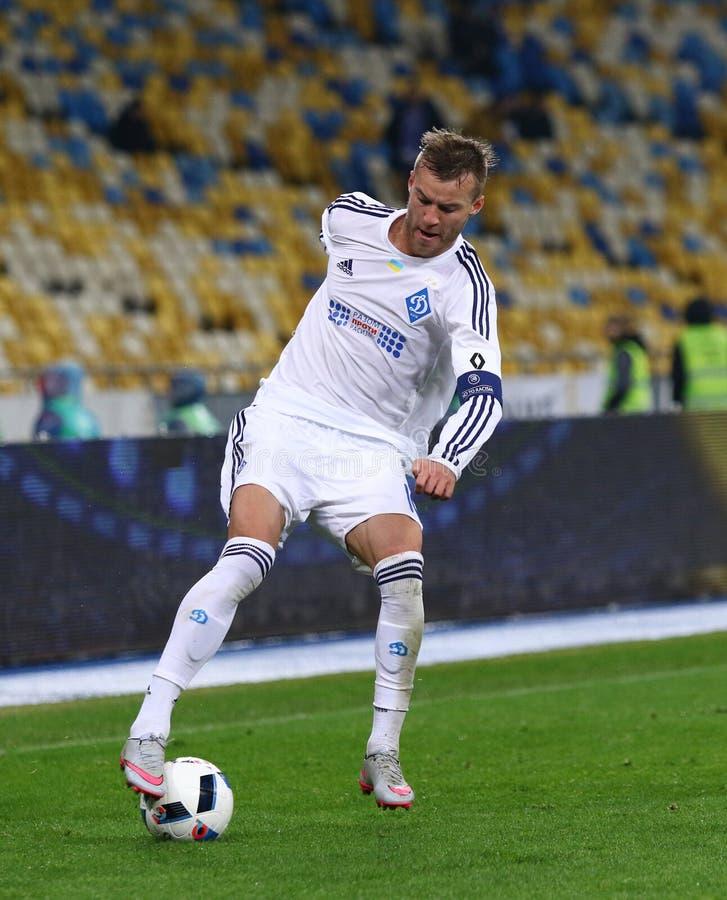 Gioco ucraino FC Oleksandria di quarto di finale della tazza contro il FC Dynamo Kyiv fotografia stock libera da diritti