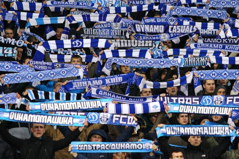 Gioco ucraino FC Oleksandria di quarto di finale della tazza contro il FC Dynamo Kyiv immagine stock libera da diritti