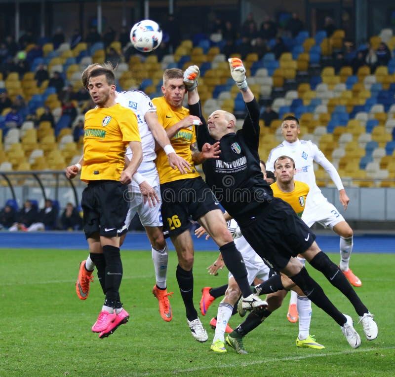 Gioco ucraino FC Oleksandria di quarto di finale della tazza contro il FC Dynamo Kyiv fotografie stock libere da diritti