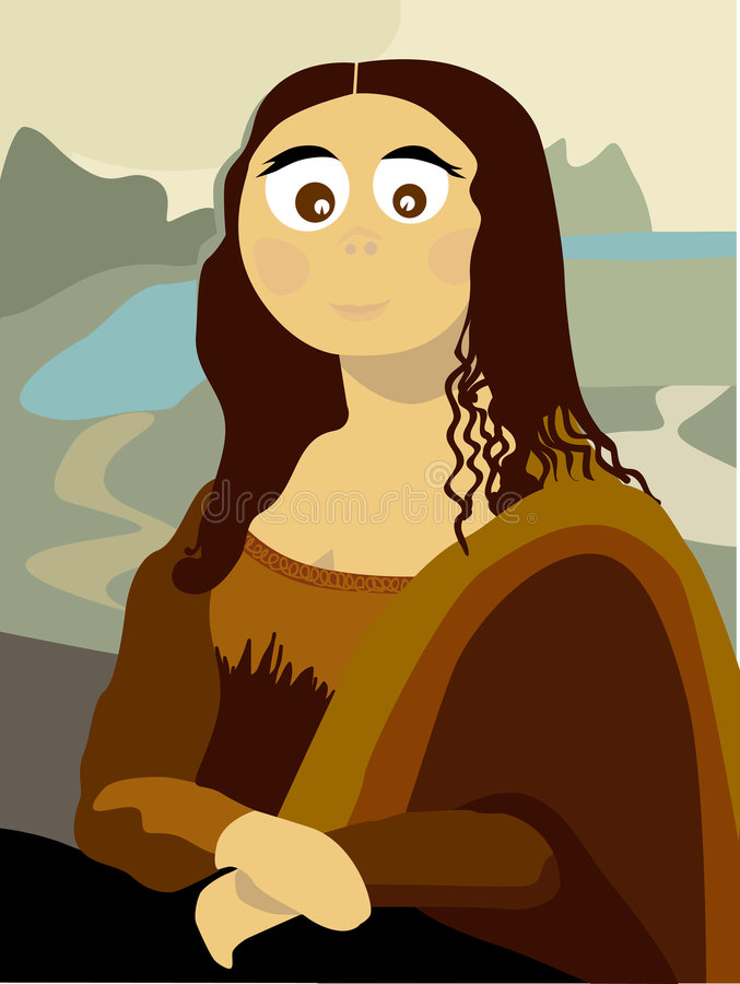 Gioconda (vector) vector illustratie