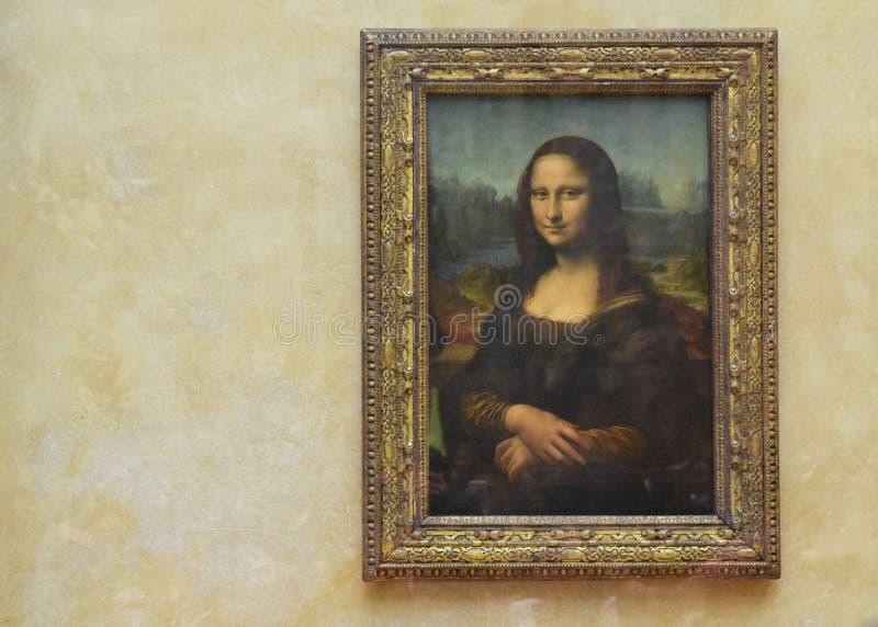 Giocondaen, Museum Du Louvre, Frankrike, Paris arkivbilder