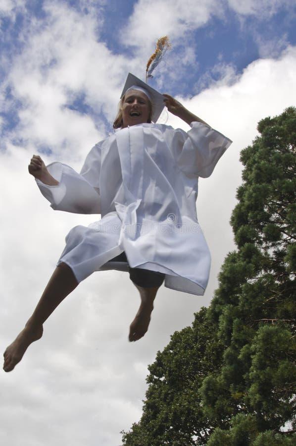 Gioia di graduazione fotografia stock libera da diritti