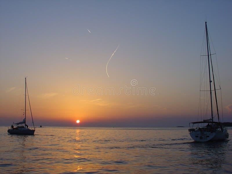 Gioia di tramonto immagine stock libera da diritti