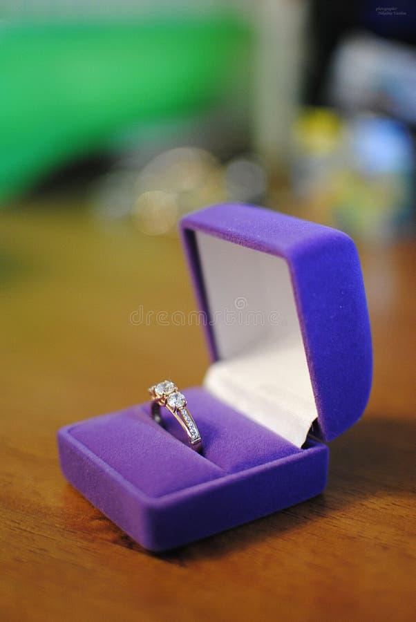 Gioielli dell'anello immagine stock