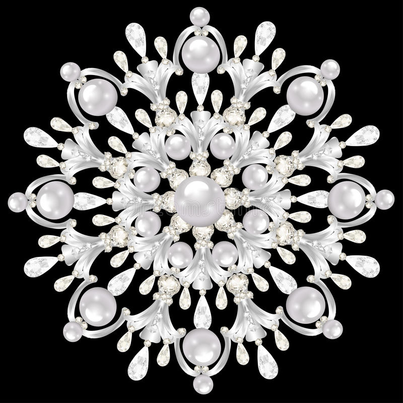 Gioielli della fibula della mandala, elemento di progettazione Annata geometrica royalty illustrazione gratis