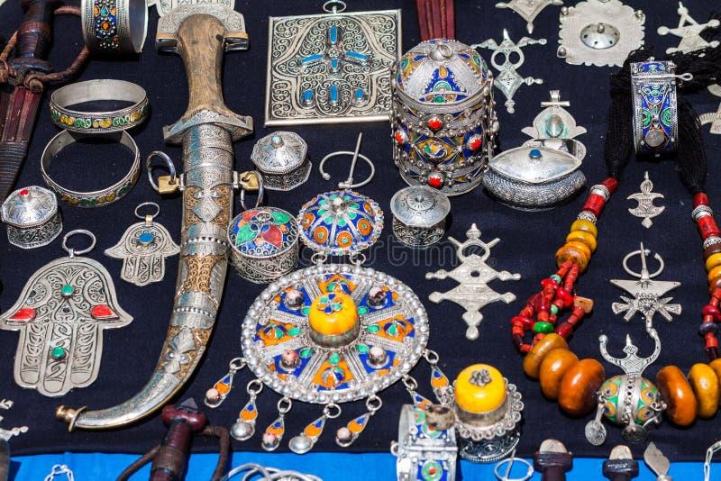 Gioielli marocchini fotografia stock libera da diritti