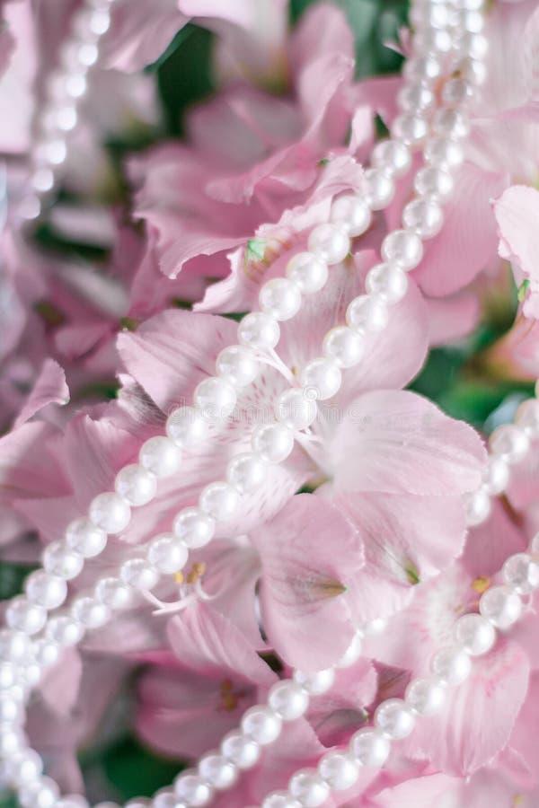 gioielli meravigliosi della perla fotografie stock libere da diritti