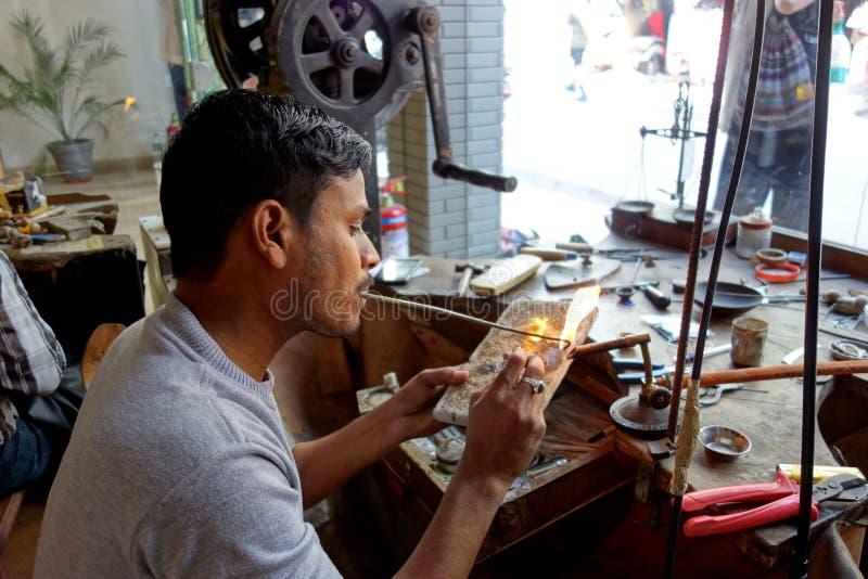 Gioielliere India del vecchio mondo fotografia stock libera da diritti