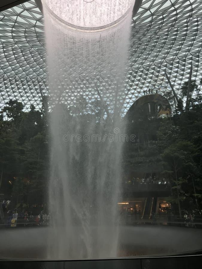 Gioiello dell'aeroporto di Singapore fotografie stock libere da diritti