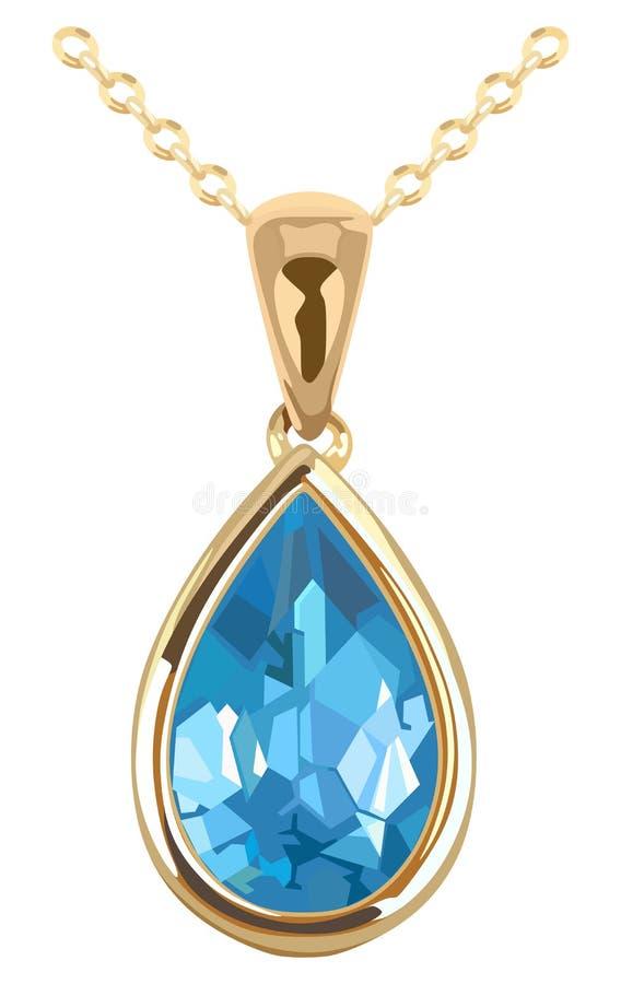 Gioiello sulla catena dorata royalty illustrazione gratis