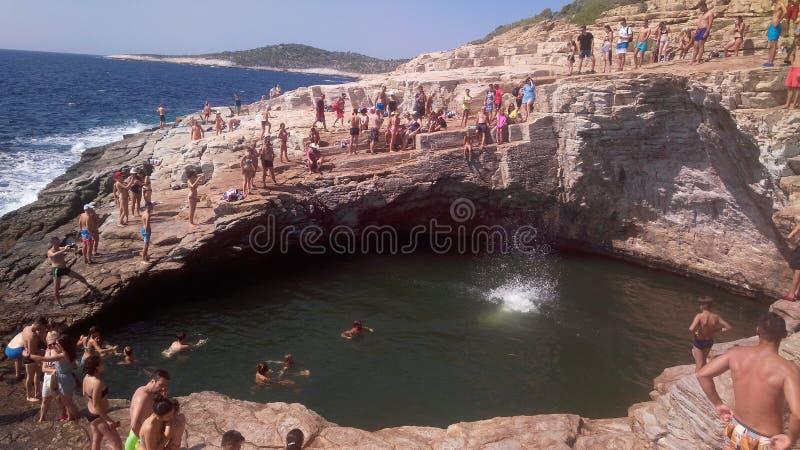 Giola Thassos Greece stock photo