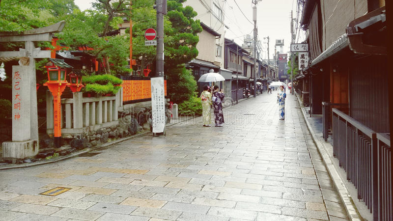 Gion和服 免版税图库摄影