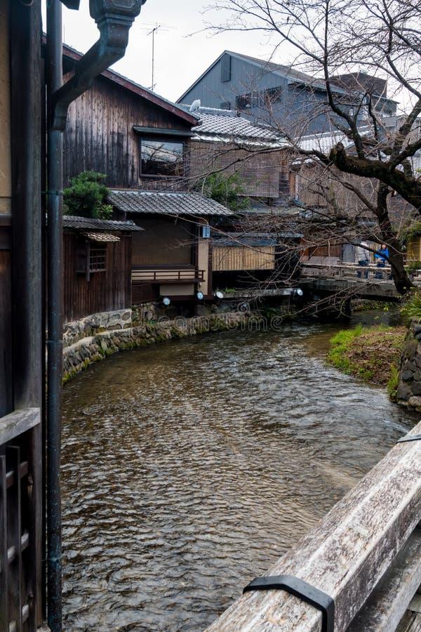 Gion Canal vid dag arkivfoto