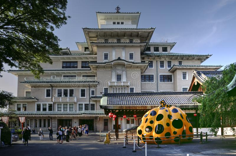 The Gion Corner building in Kyoto. Gion Corner in Kyoto is a place where people can see Japan`s traditional performing arts in `digest` form all on one stage royalty free stock photo
