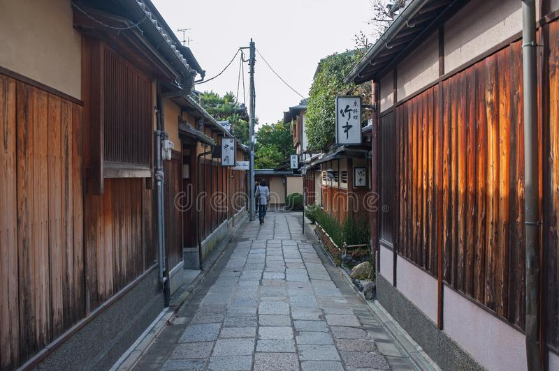Gion district of Kyoto, Japan royalty free stock image