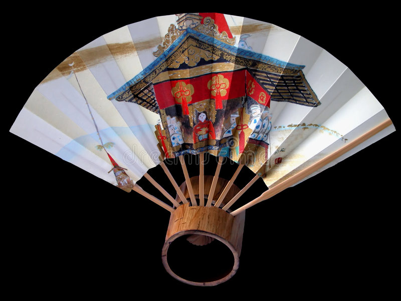 Gion fan. A characteristic fan for Gion Matsuri one of the most famous festival in Kyoto,Japan stock photography