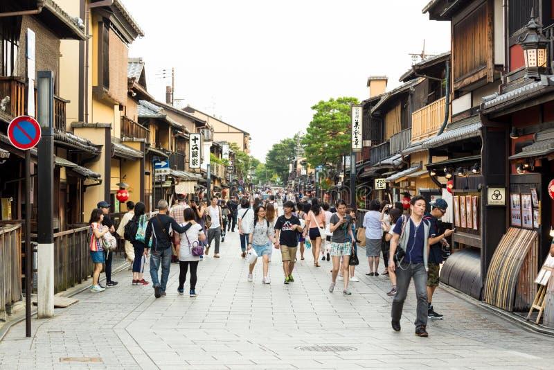 Gion gejszy Kyoto Japonia Gromadzcy Teahouses zdjęcia stock