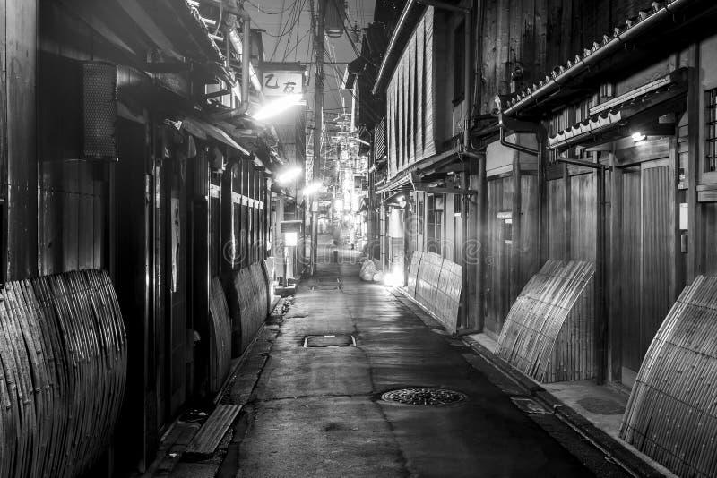 Gion il vecchio centro antico di Kyoto alla notte, Giappone fotografia stock