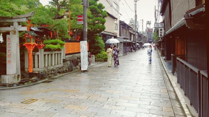 Gion Kimonos fotografia de stock royalty free